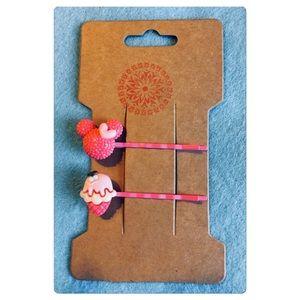 Kawaii Mouse Ears Hair Pins Set